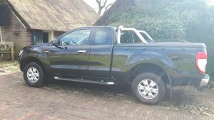 Ford Ranger Super Cab Top Up Cover Tonneau Lid with Styling Bar