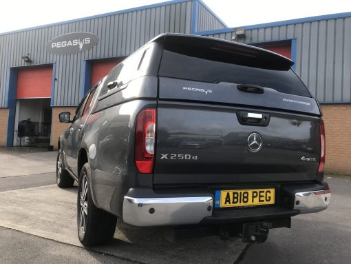 New Mercedes-Benz X-Class Avantgarde hardtop incorporating the highest level security package plus 3 door alarm and central locking.
