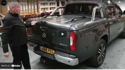 Mercedes-Benz X-Class Top Up Cover Tonneau Lid with Styling Bar.
