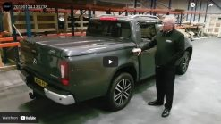 Mercedes-Benz X-Class Sports Lid Tonneau Cover Without Style Bars.