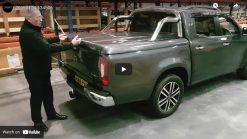 Mercedes-Benz X-Class Sports Lid Tonneau Cover With Style Bars.