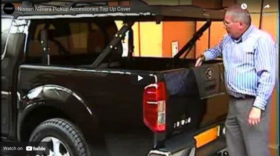 Nissan Navara D40 Top Up Cover Tonneau Lid Styling Bar