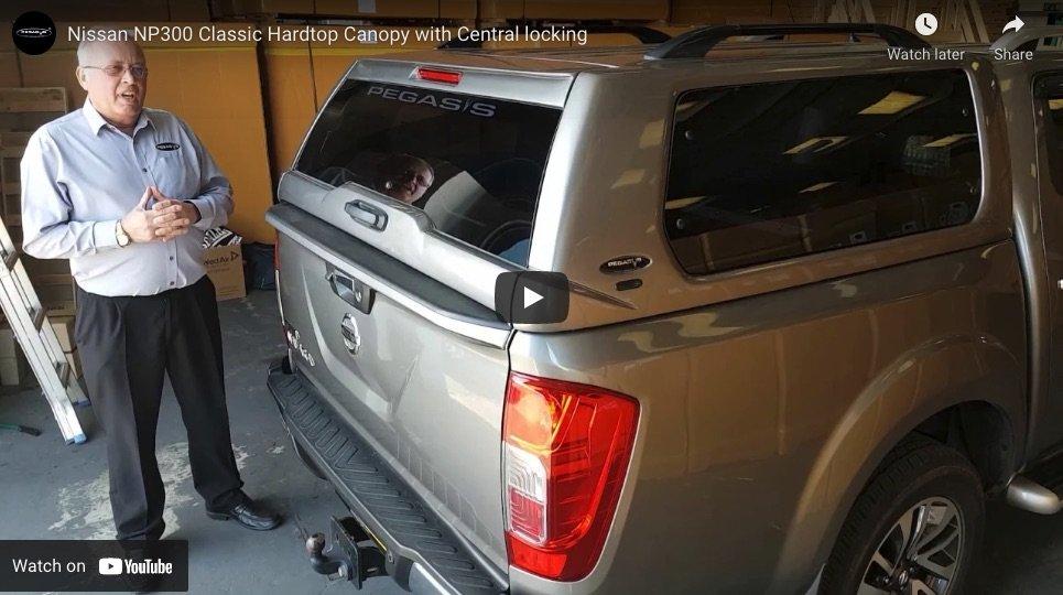 Nissan Navara NP300 Classic Hardtop Canopy With Central Locking