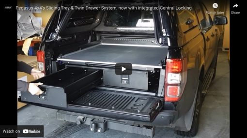 Nissan Navara Twin Drawer With Sliding Cargo Tray With or Without Central Locking