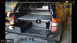 VW Amarok Twin Drawer With Sliding Cargo Tray With or Without Central Locking