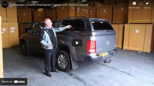 Volkswagen VW Amarok Avantgarde Glazed Hardtop Canopy with Central Locking