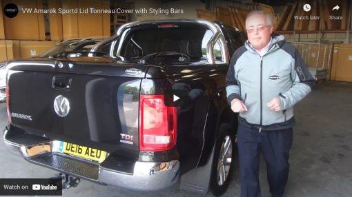 Volkswagen VW Amarok Sports Lid Tonneau Lid with Styling Bar
