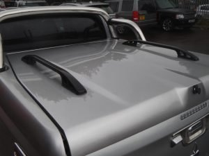 Mitsubishi L200 Series 5 Longbed Top Up Cover Tonneau Lid With Styling Bars