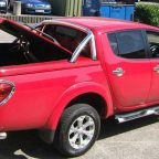 Mitsubishi L200 Top Up Cover Longbed Tonneau Lid With Styling Bar