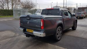 Mercedes-Benz X-Class Sports Lid Tonneau Cover Without Style Bars. SPRING DISCOUNT SALE – WAS £1195.00 plus VAT NOW £795.00 plus VAT